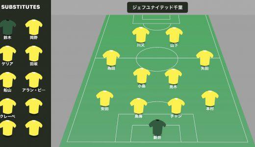 2020年J2第19節ジェフユナイテッド千葉vs愛媛FCはジェフの勝ちで15位に上昇だよ
